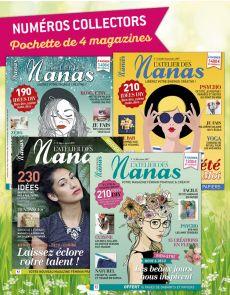 Collection 2017 complète - L'ATELIER des NANAS : 4 numéros collectors