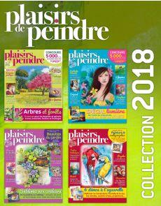 Collection 2018 complète - Plaisirs de Peindre : 4 numéros collectors