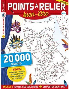 Points à Relier bien Etre 14 - Thèmes : Carnaval, Paques, Sports d'hiver, Voyages, Animaux, jules Verne, ...