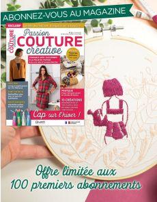 Abonnement Passion COUTURE Créative + le Kit Broderie Pause Moderne