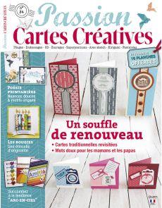 Passion Cartes créatives n°34 avec 16 planches d'étiquettes créatives