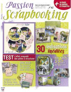 Passion Scrapbooking n°62 - 30 modèles inédits et 16 pages de papiers et étiquettes