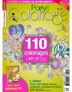 Pause Coloriage 14 - Thèmes : fleurs, merveilleux oiseaux, printemps, coloriages de minuit...