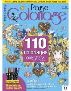 Pause Coloriage 12 - Thèmes : Automne, princesses, fleurs, mandalas, coloriages de minuit