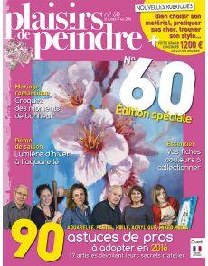 Plaisirs de peindre n°60 - Aquarelle, Pastel, Huile, Acrylique, Mixed media