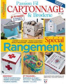 Passion Fil Cartonnage et Broderie 28 - Spécial Rangement