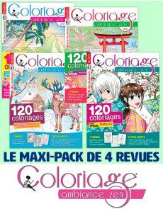 Collection complète 2020 COLORIAGE AMBIANCE ZEN - 4 revues