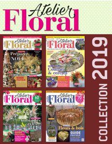 Collection 2019 complète - ATELIER FLORAL : 4 numéros collectors