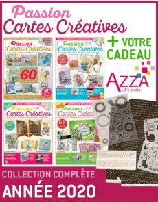 PASSION CARTES CRÉATIVES collection 2020 + EN CADEAU 1 lot de matériel AZZA