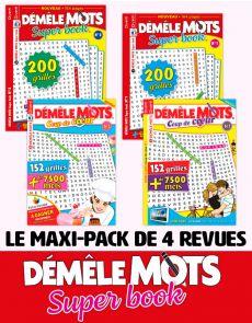 Le PACK DÉMÊLE MOTS Super Book 2020 - 4 revues