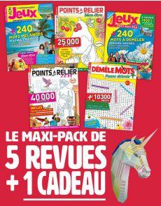 Le PACK Multi-Jeux : 5 revues + 1 CADEAU