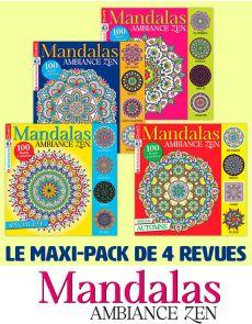 Collection complète 2020 MANDALAS ZEN - 4 magazines