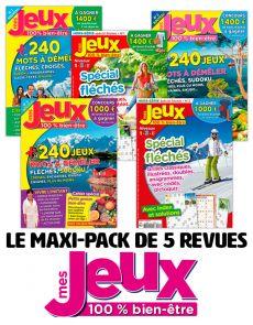 Le PACK MULTI-JEUX 2020 - 5 revues