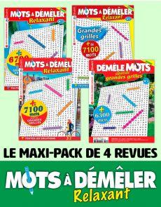 Le PACK MOTS À DÉMÊLER Relaxant 2020 - 4 revues