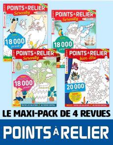 Le PACK POINTS À RELIER petit format 2020 - 4 revues