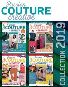 Collection 2019 complète - Passion COUTURE Créative : 4 numéros collectors