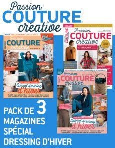 """COUTURE créative - Pack de 3 magazines """"Dressing d'Hiver"""""""
