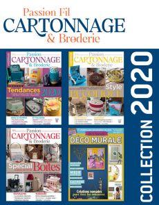 CARTONNAGE & BRODERIE 3 numéros collectors + 1 hors-série DIY spécial DÉCO