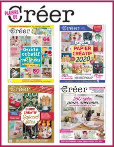 Spécial PLAISIRS DE CRÉER - Collection de 4 magazines