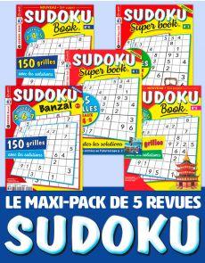 Le PACK SUDOKU 2020 - 5 revues