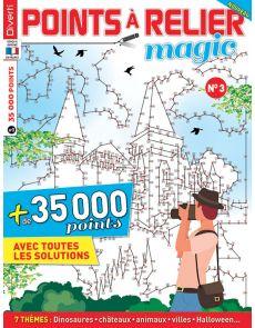 Points à Relier Magic 3 - Thèmes dinosaures, châteaux, animaux, villes, halloween…