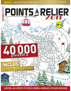 Points à Relier Zen 4 - Thèmes Nouvel An, sports d'hiver, cinéma, animaux, voyage…