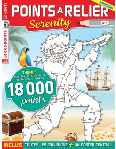 Points à Relier Serenity 2 - Thèmes pirates, métiers, jungle, mythologie, mantras…
