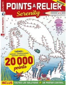 Points à relier Serenity 5 - Thèmes mariage, animaux, western, mantras…