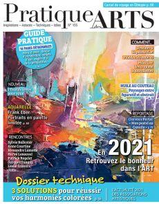 Pratique des Arts 155 - Aquarelle, Pastel, Dessin, Huile, Acrylique, Huile au couteau