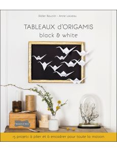 Tableaux d'Origamis - black & white