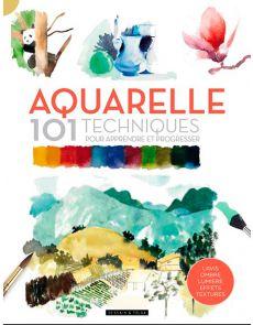 Aquarelle - 101 techniques pour apprendre et progresser