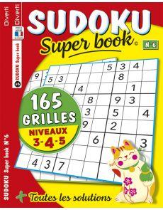 SUDOKU Super book 6 - 165 GRILLES - Niveaux 3-4-5