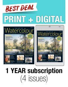 PRINT + DIGITAL 1-year subscription - The Art of Watercolour magazine