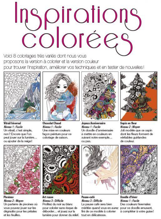 Coloriage Guirlande Fleurs.Coloriage Bien Etre 15 Themes Hiver Cœurs Motifs Et Mandalas Fleurs Collector Grands Espaces
