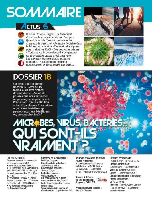 Science et Univers n°24 - Microbes, Virus, Bactéries, qui sont-ils vraiment?